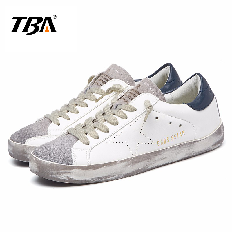 TBA Brand Designer 2017 Italy Golden Genuine leather Casual Women Shoes Trainers Goose star Breathe Shoes Footwear Zapatillas 2016 new ggdb women shoes golden goose super star casual shoes genuine leather gold men women sport flats low cut shoe