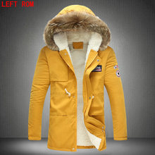 New 2017 Winter Jacket Fur Collar Men'S Down Jacket Cotton-padded Coat Thickening Jacket Parka Men Manteau Homme