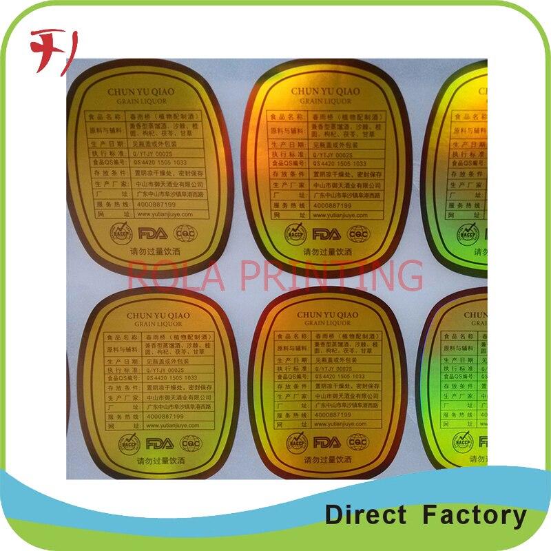 Pet pvc adesivo de impressão de etiquetas Do Holograma personalizado fef7bd42f9