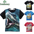 Boys T Shirt Jurrasic Park Dinosaur T-shirt for Pioneer Kids Short-sleeved Baby Summer Clothing Cartoon Children Cotton Tops