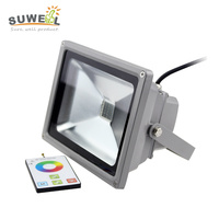 433 HZ Rf Remote Control Cob Rgb 20w Led Flood Light Outdoor Waterproof Ip65 Wall Changing