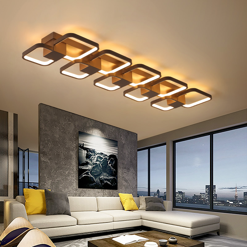 Coffee Color Dimmable RC Led ceiling lights For Living Room Bedroom balcony decoration 110V 220V Modern Led ceiling lamp Fixture coffee body rings modern led ceiling lights ac110v 220v art decoration led ceiling lamp for living room bedroom dining room lamp
