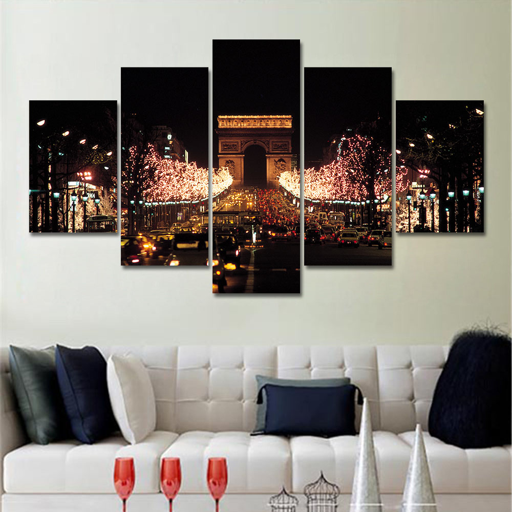 5 Piece Canvas Art Set Oil Painting Landscape Mordern Paintings City Wall  Art Canvas Prints Canvas Painting Art for Living Room - Online Get Cheap Canvas Art Sets -Aliexpress.com Alibaba Group