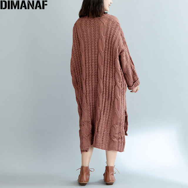 Women Sweater Plus Knitted Cotton High Street Striped Fashion Female Solid Split  Winter Pullover