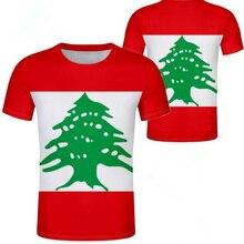 Líbano masculino juventude livre nome personalizado número foto lbn t camisa nação bandeira lb república árabe libanês país menino roupas