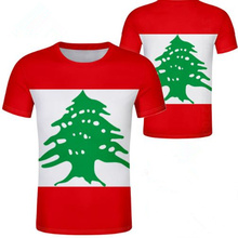 LIBANON männliche jugend freies custom name anzahl foto lbn t hemd nation flagge lb republik arabisch arabischen libanesische land junge kleidung