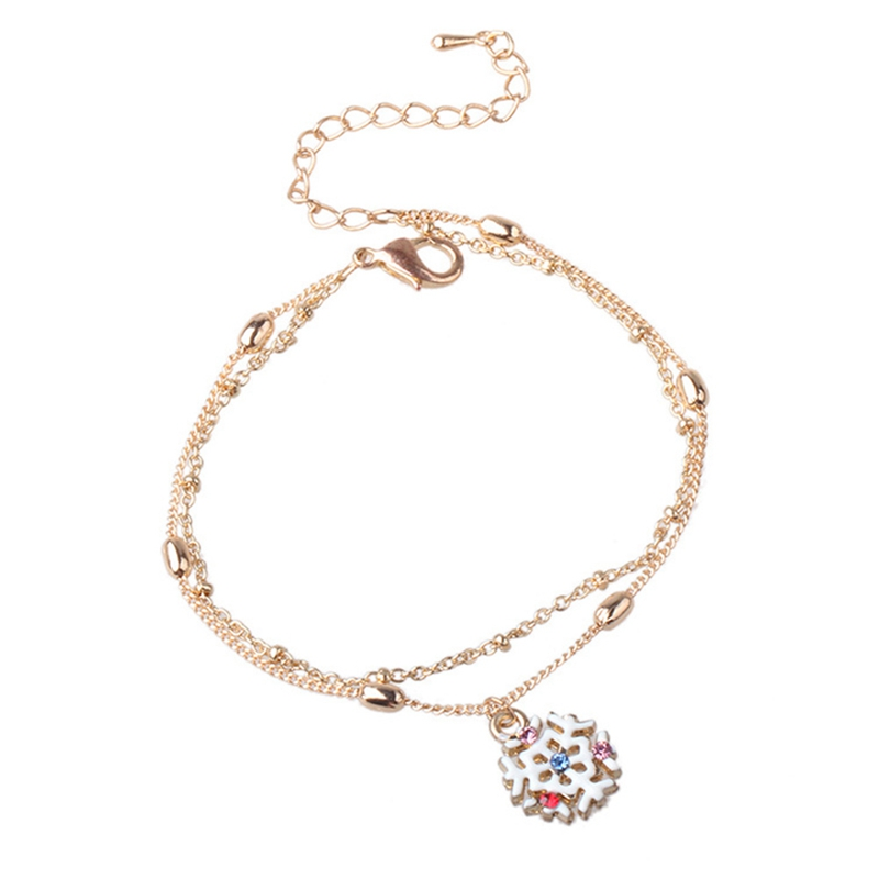 Colorful Bracelet  Snowflake Charm Bracelet For Women Christmas Gift  2018 New Fashion Bracelet