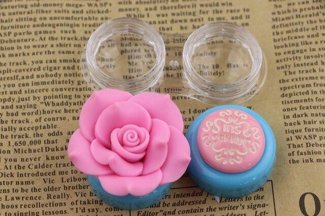 Синий розовый цвет заклинание женщины путешествия контактные линзы коробка элегантный 3D цветы удобство переноски объектива чехол
