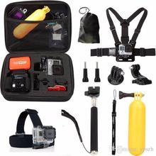 Gopro Accessories set go pro kit mount For Go Pro Hero4 3+ 3 2 SJ6000 SJ5000 SJ4000 Xiaomi yi Action Camera DVR