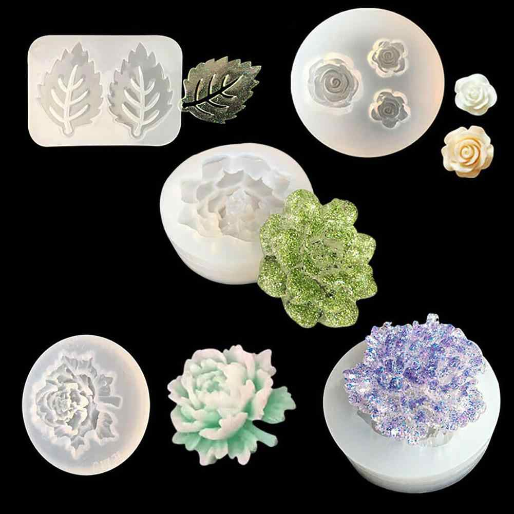 Flower Leaf Necklace Pendant Silicone Mold Resin Jewelry Making Epoxy Resin Molds For DIY Hand Craft for Jewelry