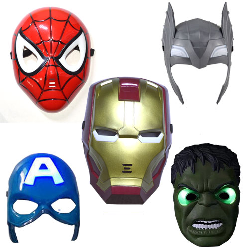 5pcs/lot LED Glowing superhero mask for kid & adult