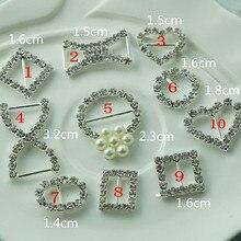 1621628, 10 стиль выбрать сплава Flatback инкрустация Bling Crystal ручной работы декоративные кнопки Для женщин и пуговицы, аксессуары ручной работы
