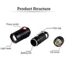LED Tactical Flashlight Brightest Handheld Flashlights Zoomable LED Flashlight 5000 Lumens Handheld Flash Light in Emergency