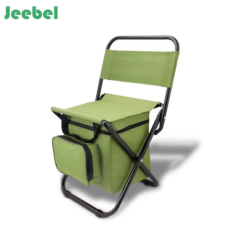 Jeebel Foldable Fishing Chair Portable Zipper Bag Rest High Quality Oxford Cloth Folding Beach Picnic Tourist Outdoor Furniture