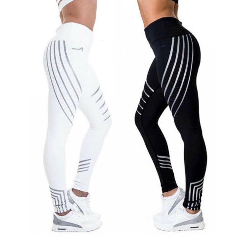 2018 Fashion Women Leggings Slim High Waist Elasticity Leggings Fitness Printing leggings Breathable Woman Pants Leggings