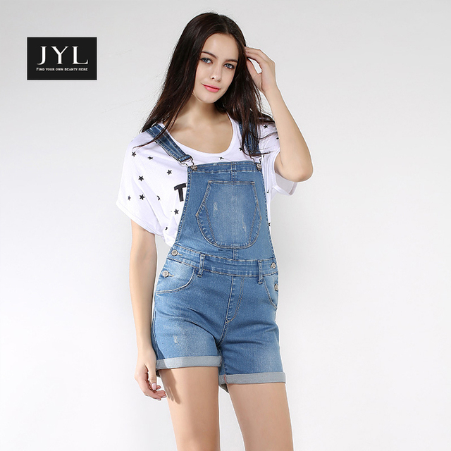 3a9f94fcc1 US $57.98 |JYL Summer style new arrival womens denim overalls,adjustable  strap button up side jeans romper shorts,summer jumpsuits women on ...