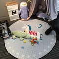 Lovely Cartoon Carousel Wooden Horse Baby Multifunctional Play Mats Nonskid Crawling Rug Carpet Blanket Kids Toys Storage Bag