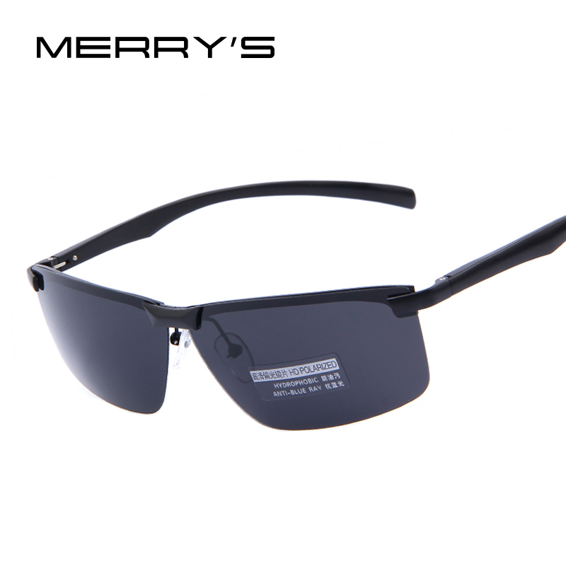 MERRY'S Men 100% HD Polarized Night Vision Driving Sunglasses Men Brand Polarized Sunglasses High quality With Original Case