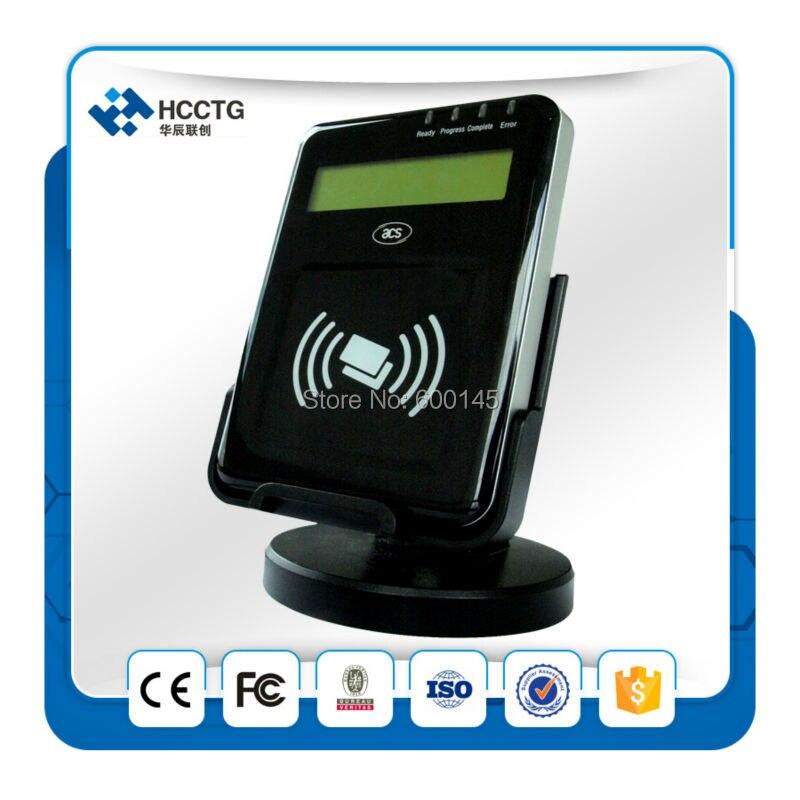 13.56 MHZ LCD USB pc-lié NFC lecteur sans contact écrivain prise en charge ISO14443 une carte B avec kit sdk gratuit pour e-bank/Pay-ACR1222L
