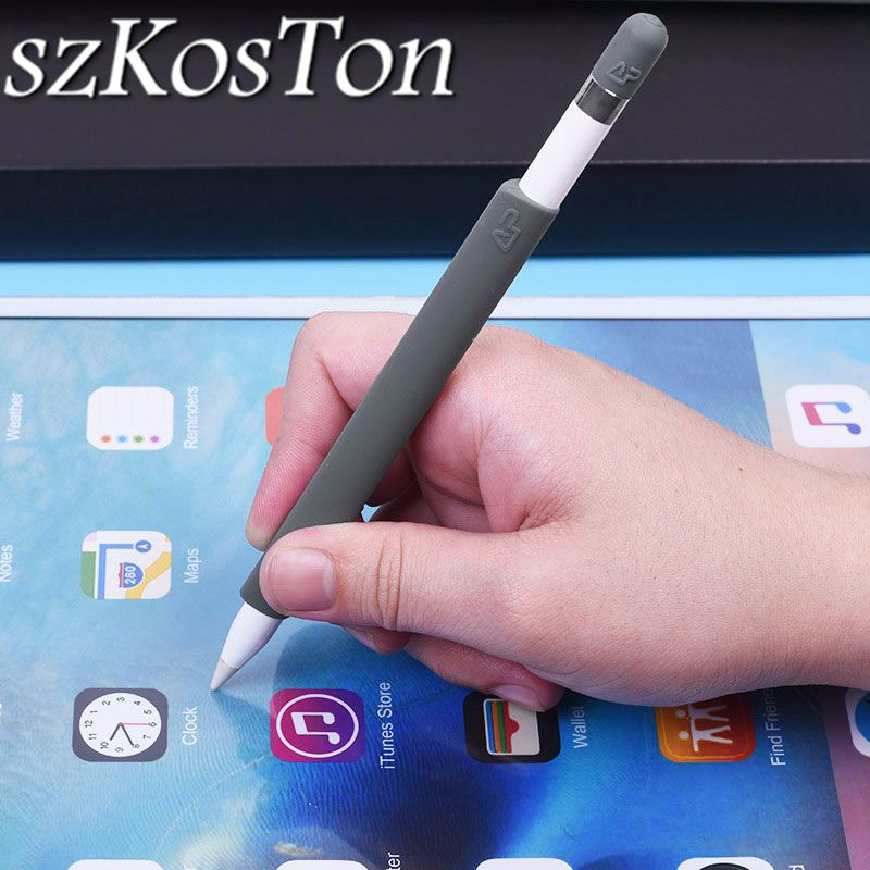 1 Set For Apple Pencil Holder Silicone Non-Slip Case Cover Sleeve Protector Wrap Kit For Apple Pencil Stylus Pen Touch Pen Cap