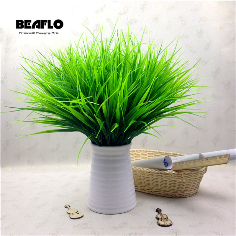1PC Artificial Plastic 7 Branches Grass Plant Fake Flower Wedding Flower Arrangement Christmas Home Decoration