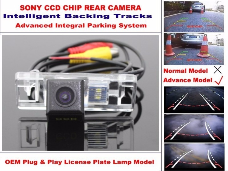 For Peugeot 3008 3008CC Car Intelligent Parking Tracks Camera HD Back up Reverse Camera Rear View Camera (3)