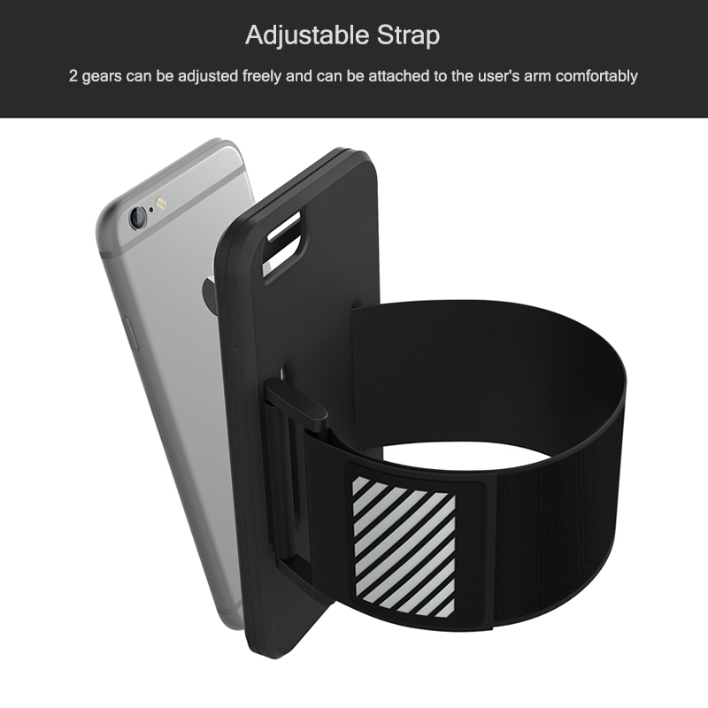 Sports Armband for iPhone 6 Plus 6s Plus Silicone Phone Case Belt Shockproof Anti fall Arm Band for Running Cycling Fitness in Armbands from Cellphones Telecommunications