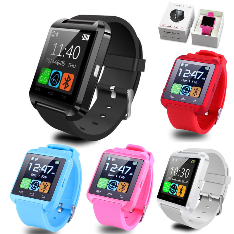 10pcs U8 Smart watch bluetooth relogios mp3 smartwatch for apple Android Phone watch pk dz09 gt08 wearable devices smart watches 2016 bluetooth smart watch gt08 for