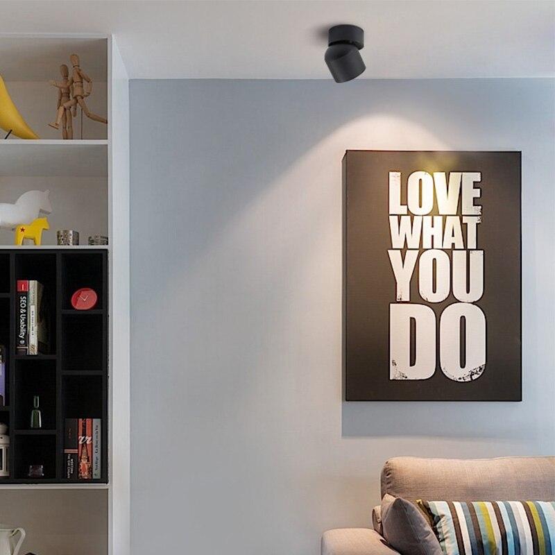 Aisilan led plafond montés sur les murs Downlight Réglable 90 degrés Spot light pour intérieure Foyer, Salon AC 90-260 V - 4