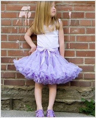 Фиолетовые Пышные юбки-американки для девочек юбка-пачка юбка для девочек юбка для танцев пышная и Мягкая юбка-американка для девочек - Цвет: light purple