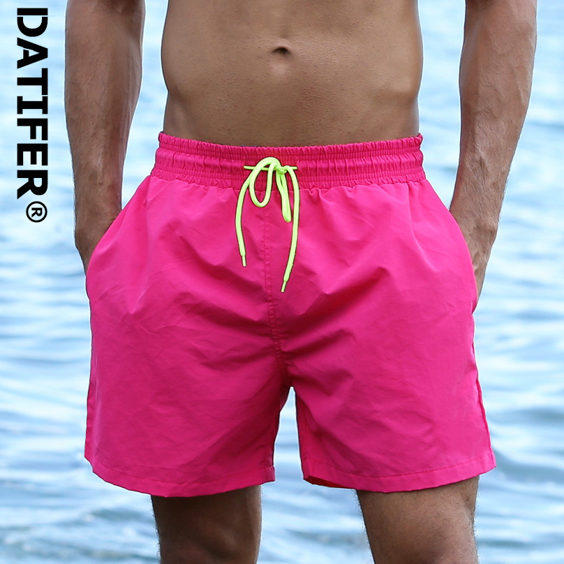 Datifer Mens Board Shorts Surf Swimwear Beach Short Man Swim Shorts Summer Male Athletic Running Gym