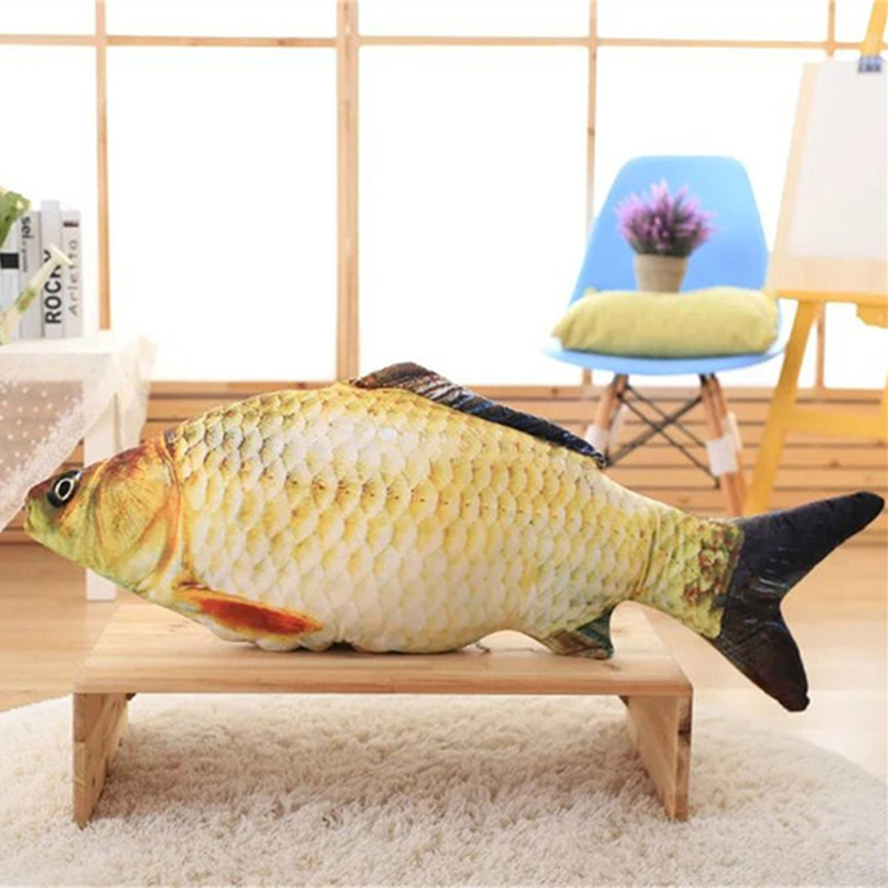 Fish Plush Toys Simulation Fish Soft Crucian Carp Stuffed Animals Dolls Cartoon Golden Fish Pillow Gift for Kids Toy huge plush carp fish toy simulation carp lucky fish doll gift about 120cm
