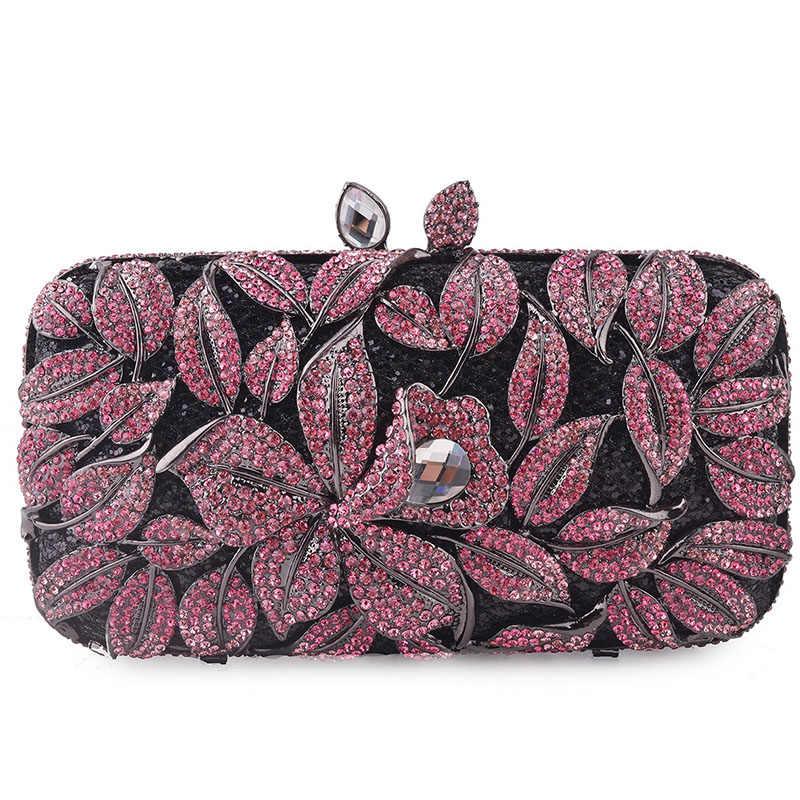 Mulheres azul/preto/roxo cristal embreagem sacos de noite caso duro bolsas de luxo senhoras metal embraiagens casamento carteira bolsa caixa