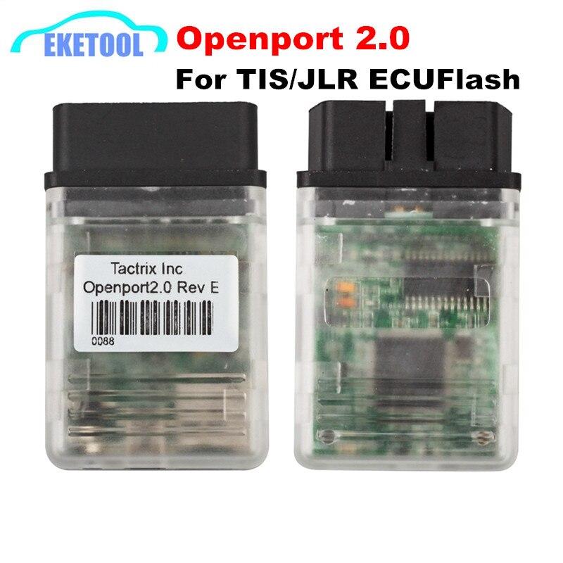 Цена за Профессиональные ECUFLASH Диагностики Кабеля Tactrix Openport 2.0 ECU Чип-Тюнинг Интерфейс Работает Для Мультибрендовый Автомобили ТИС/JLR PRO