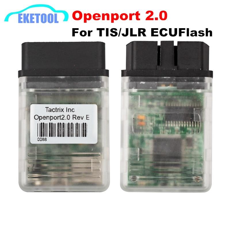 Prix pour Professionnel ECUFLASH Diagnostiquer Câble Tactrix Openport 2.0 ECU Chip Tuning Interface Fonctionne Pour Multi-marque Voitures TIS/JLR PRO