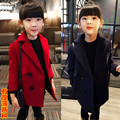 2016new Child clothing female baby wool woolen overcoat outerwear medium-long autumn and winter thickening kids coat and jackets