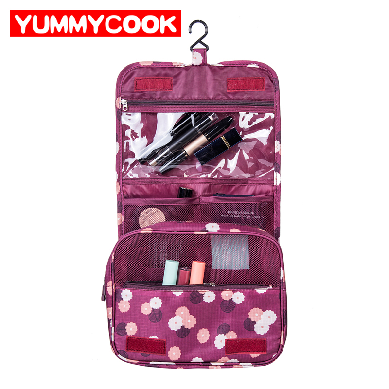 Colgante de almacenamiento de artículos de tocador de viaje plegable lave la bolsa organizador de cosméticos al por mayor lotes a granel accesorios productos