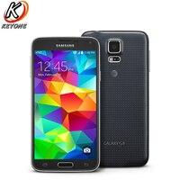 원래 At & 버전 삼성 갤럭시 S5 G900A 4 그램 LTE 휴대 전화 5.1 인치 2 기가바이트 RAM 16 기가바이트 ROM 16.0MP 안드로이드 2800 미리암페르하우어 스마트 전화