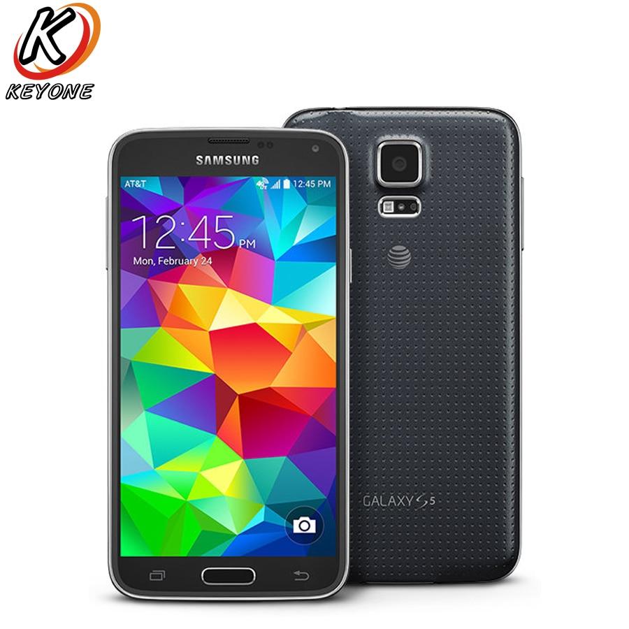 D'origine At & T Version Samsung Galaxy S5 G900A 4G LTE Mobile Téléphone 5.1 pouce 2 GB RAM 16 GB ROM 16.0MP Android 2800 mAh Smart téléphone