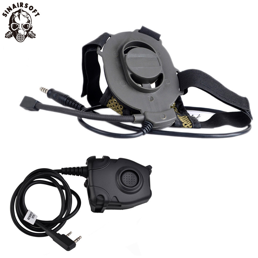 Z-Tactical Airsoft Bowman Elite II Headset Hunting For Kenwood Wearable Earphone Tactical Pins PTT Pin Military Z-TAC MidlandZ-Tactical Airsoft Bowman Elite II Headset Hunting For Kenwood Wearable Earphone Tactical Pins PTT Pin Military Z-TAC Midland
