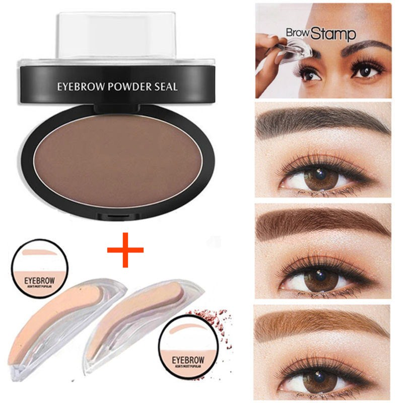 Fashion Eyebrow Powder Makeup Brow Stamp Palette Delicated Shadow Definition New