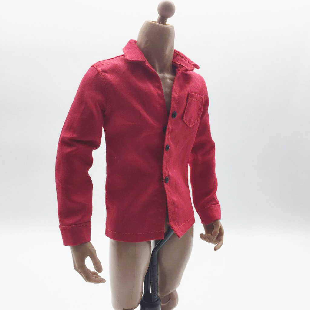 1//6 Scale Men/'s Shirt Male Clothing for 12/'/' Soldier Action Figures Doll DIY