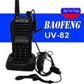 Caliente baofeng uv-82 walkie talkie de radio portátil con auriculares de botón radio vhf uhf de banda dual baofeng uv82 uv 82 de dos vías radio