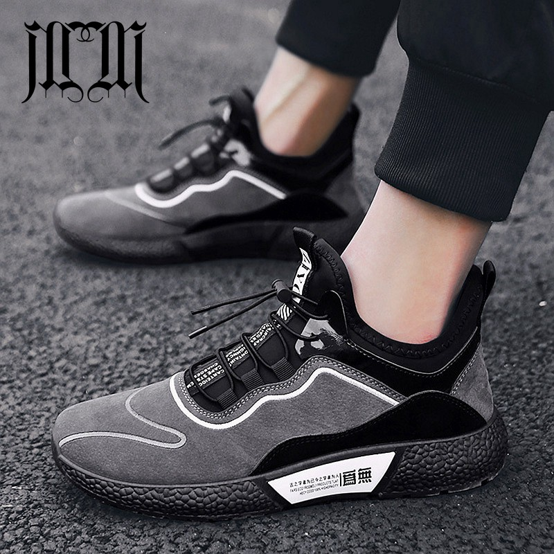 MUMUELI Gray Black Leather 2019 Designer Casual Breathable Shoes Men High Quality Fashion Luxury Ultra Boost Brand Sneakers L771 1