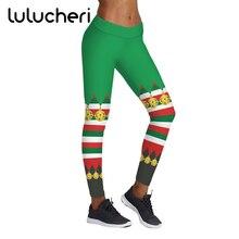 цена на Christmas Snow Stripe Printed Leggings For Women Girls Plus Size Elastic Breathable Leggins High Waist Fitness Slim Legging Gift