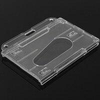 1 PC 3 Crachá de IDENTIFICAÇÃO Do Titular do Cartão Horizontal Transparente Claro Plástico Rígido Capa|Suporte p/ DVR|Automóveis e motos -