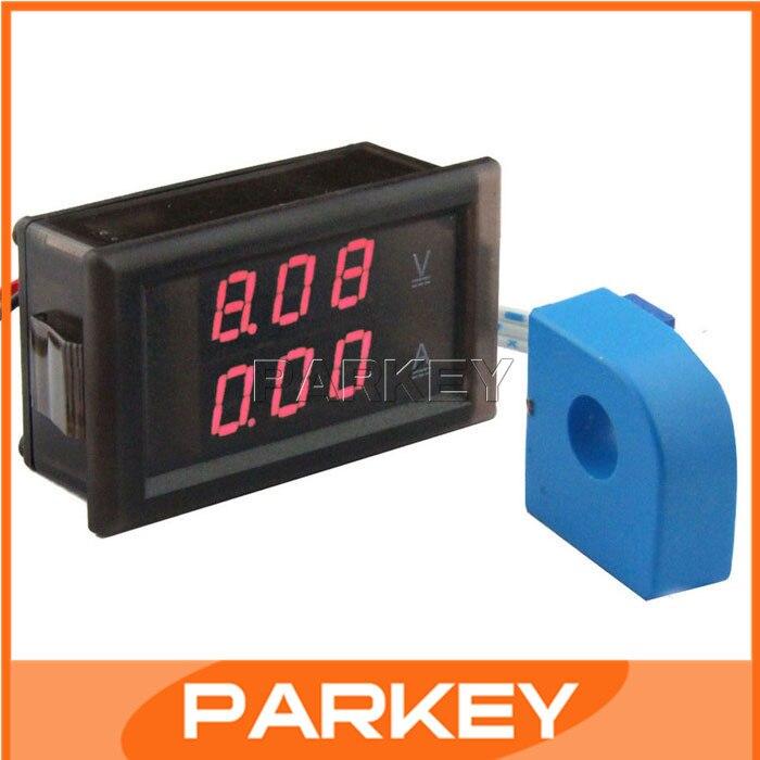 5 PCS DC Red display LED Volt Amp Meter 2in1 DC 0-100V/10A Red Voltmeter Ammeter + Current transformer CT #200955  цены