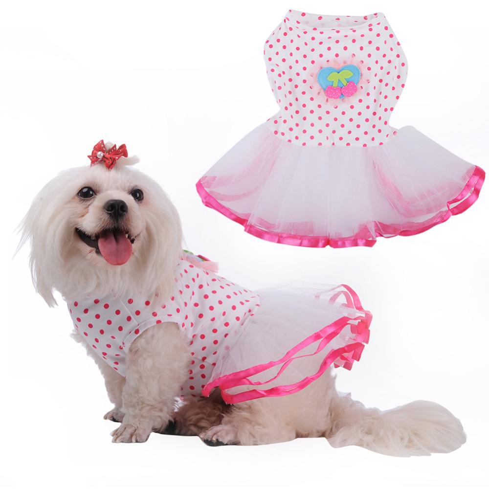 Aliexpress buy clothes for dogs dog dress pets dog clothes aliexpress buy clothes for dogs dog dress pets dog clothes summer dresses party dress dot skirt princess wedding dresses for dogs puppy from reliable ombrellifo Image collections