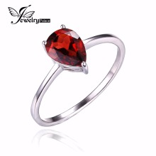 Water Drop 1.6ct Pure stone Alluring Pink Garnet Stable 925 Sterling Silver Rings For Girls Vogue Celebration High-quality Jewellery 2016 New
