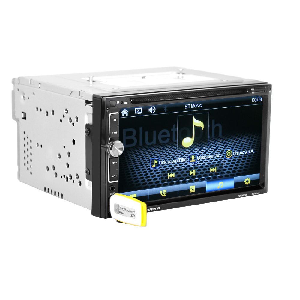 "Image 4 - 6060B Universal  2 Din Car DVD player 6.95"" Car Autoradio Video/Multi Media MP5 Player mp4 Car Stereo audio player-in Car CD Player from Automobiles & Motorcycles"